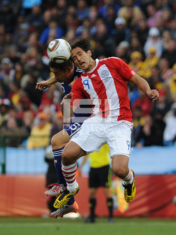 Japan and Paraguay played in the second round of the 2010 FIFA World Cup in Loftus Versfeld Stadium, in Pretoria, South Africa, June 29th. After regulation and extra time ended 0-0, Paraguay advanced to the quarterfinals, 5-3, in a penalty-kick shootout.