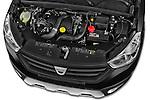Dacia Dokker Stepway 2015 5 Door Mini MPV High Angle Engine detail view