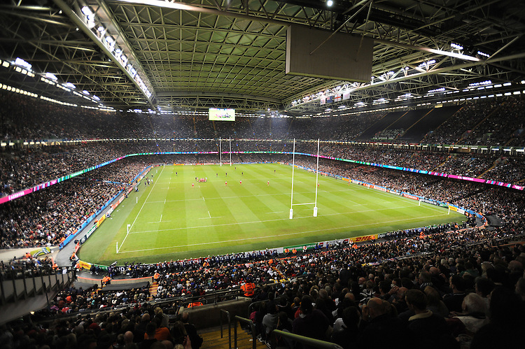 General view of a packed Millennium Stadium during Match 23 of the Rugby World Cup 2015 between New Zealand and Georgia - 02/10/2015 - Millennium Stadium, Cardiff<br /> Mandatory Credit: Rob Munro/Stewart Communications