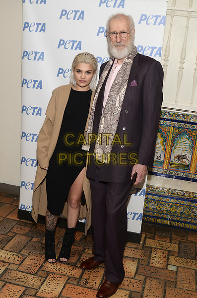 NEW YORK, NY - MARCH 30: Model Amina Blue Unveils New PETA Campaign with actor James Cromwell at West Side YMCA on March 30, 2017 in New York City. <br /> CAP/MPI/RH<br /> ©RH/MPI/Capital Pictures