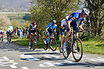 The peloton climb La Redoute during the 107th edition of Liege-Bastogne-Liege 2021, running 259.1km from Liege to Liege, Belgium. 25th April 221.  <br /> Picture: Serge Waldbillig | Cyclefile<br /> <br /> All photos usage must carry mandatory copyright credit (© Cyclefile | Serge Waldbillig)