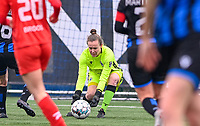 goalkeeper Elke Geeraert (25) of Club Brugge pictured during a female soccer game between Club Brugge Dames YLA and White Star Woluwe on the 12 th matchday of the 2020 - 2021 season of Belgian Scooore Womens Super League , saturday 30 January 2021  in Brugge , Belgium . PHOTO SPORTPIX.BE | SPP | DAVID CATRY