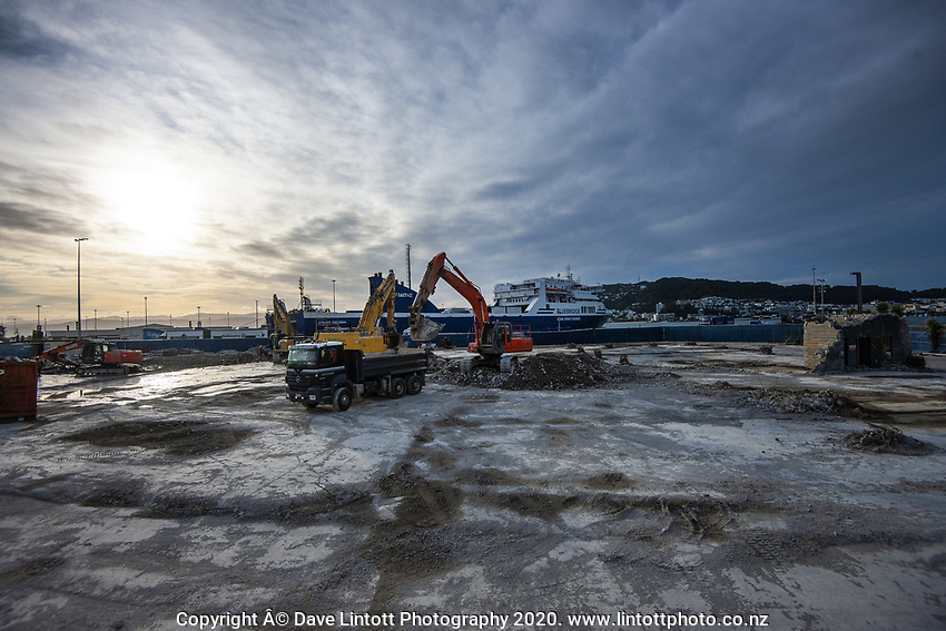 BNZ building demolition site. CentrePort in Wellington, New Zealand on Wednesday, 14 October 2020. Photo: Dave Lintott / lintottphoto.co.nz