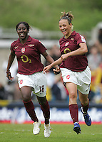 Arsenal vs Leeds United - Womens FA Cup Final at Millwall Football Club - 01/05/06 - Lianne Sanderson (right) celebrates having made it 5-0 to the Gunners - (Gavin Ellis 2006)