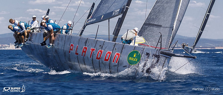 Platoon—winner 52 Super Series Menorca—using Quantum Fusion M membrane sails