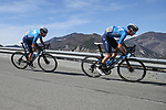 13/03/2021 - Paris Nice 2021 - Etape 7 - Le Broc / Valdeblore La Colmiane (119,2 km) - Jorge ARCAS Matteo JORGENSON (MOVISTAR TEAM)