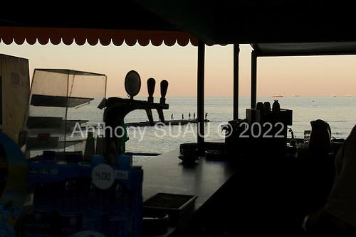 Odessa, Ukraine<br /> August 22, 2005 <br /> <br /> Evening on the beach front.