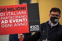 27.10.2020 - Event Organization and Management Industry Demo Outside The Italian Parliament