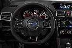 Car pictures of steering wheel view of a 2018 Subaru WRX STI Sport Premium 4 Door Sedan