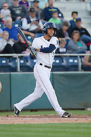Luis Liberato (2) of the Everett Aquasox at bat during a game against the Vancouver Canadian at Everett Memorial Stadium in Everett, Washington on July 27, 2015.  Everett defeated Vancouver 6-0. (Ronnie Allen/Four Seam Images)