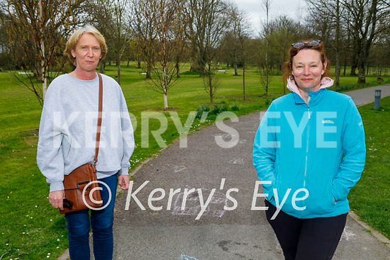 Enjoying a stroll in the Listowel town park on Easter Sunday, l to r: Jacinta Dalton and Margaret Thornton.
