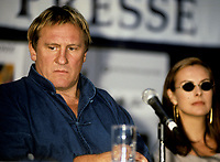 FILE PHOTO -  Gerard Depardieu at the World Film Festival<br />  in 1999.<br /> <br /> Photo : Pierre Roussel - Agence Quebec Presse