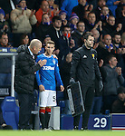 Liam Burt comes on for Rangers