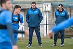 St Johnstone Training…07.04.17<br />Tommy Wright and Callum Davidson watch training this morning at McDiarmid Park ahead of tomorrow's trip to Inverness<br />Picture by Graeme Hart.<br />Copyright Perthshire Picture Agency<br />Tel: 01738 623350  Mobile: 07990 594431