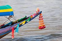 Bangkok, Thailand.  Decoration on a Chao Phraya Water Taxi.
