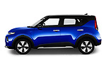 Car Driver side profile view of a 2020 KIA e-Soul Premium 5 Door SUV Side View