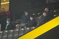 Wycombe Wanderers Directors look on during the Sky Bet Championship behind closed doors match between Watford and Wycombe Wanderers at Vicarage Road, Watford, England on 3 March 2021. Photo by David Horn.