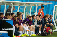 England manager Roy Hodgson and the England bench