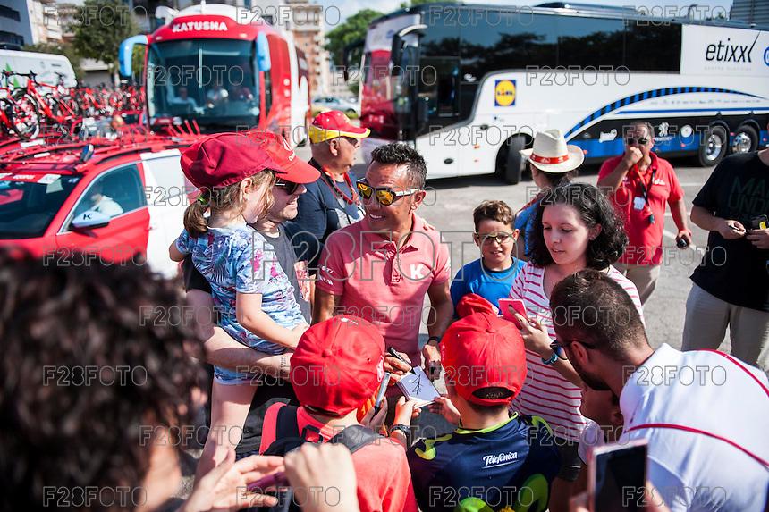 Castellon, SPAIN - SEPTEMBER 7: Purito Rodriguez during LA Vuelta 2016 on September 7, 2016 in Castellon, Spain