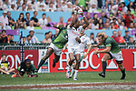 USA vs South Africa during their Cup Semi-final as part of the HSBC Hong Kong Rugby Sevens 2017 on 09 April 2017 in Hong Kong Stadium, Hong Kong, China. Photo by Weixiang Lim / Power Sport Images