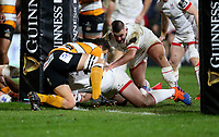 Saturday 22nd February 2020 | Ulster vs Cheetahs<br /> <br /> Tom O'Toole scores during the PRO14 Round 12 clash between Ulster and the Cheetahs at Kingspan Stadium, Ravenhill Park, Belfast, Northern Ireland. Photo by John Dickson / DICKSONDIGITAL