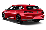 Car pictures of rear three quarter view of 2021 Volkswagen Arteon-SB R-Line 5 Door Wagon Angular Rear