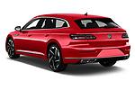 Car pictures of rear three quarter view of 2021 Volkswagen Arteon-SB R-Line 5 Door Wagon Angular Rear