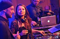 Opernball 2013 am 15.09.2013 in Leipzig (Sachsen). <br /> IM BILD: DJ CRAM mit Cosma Shiva Hagen <br /> Foto: Christian Nitsche