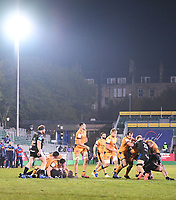 1st May 2021; Recreation Ground, Bath, Somerset, England; European Challenge Cup Rugby, Bath versus Montpellier; Miles Reid of Bath tries to rip the ball from the Montpellier players