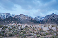 Clouds over the eastern face of the Sierra Nevada, near Lone Pine, California