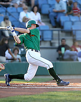Drew Rundle / Boise Hawks at bat against the Yakima Bears at Boise, ID - 08/27/2008..Photo by:  Bill Mitchell/Four Seam Images
