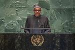 DSG meeting<br /> <br /> AM Plenary General DebateHis<br /> <br /> <br /> His Excellency Muhammadu Buhari, President, Federal Republic of Nigeria
