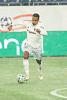 FOXBOROUGH, MA - NOVEMBER 1: Ola Kamara #9 of DC United during a game between D.C. United and New England Revolution at Gillette Stadium on November 1, 2020 in Foxborough, Massachusetts.