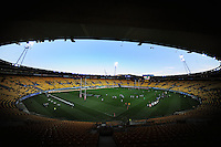 A general view of Westpac Stadium during the ITM Cup rugby union match between Wellington Lions and North Harbour at Westpac Stadium, Wellington, New Zealand on Saturday, 29 September 2012. Photo: Dave Lintott / lintottphoto.co.nz