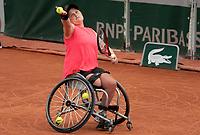 Paris, France, 5 june 2021, Tennis, French Open, Roland Garros, Womans Wheelchair semifinal : ) Aniek van Koot (NED)<br /> Photo: tennisimages.com