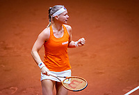 Den Bosch, The Netherlands, April 16, 2021,    Maaspoort, Billy Jean King Cup  Netherlands -  China :  First Match Kiki Bertens (NED) <br /> Photo: Tennisimages/Henk Koster