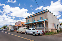 Old buildings in small historical town of Waimea, Kaua'i