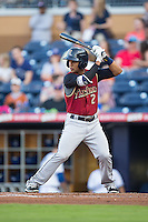 Cole Figueroa (2) Scranton/Wilkes-Barre RailRiders at bat against the Durham Bulls at Durham Bulls Athletic Park on May 15, 2015 in Durham, North Carolina.  The RailRiders defeated the Bulls 8-4 in 11 innings.  (Brian Westerholt/Four Seam Images)