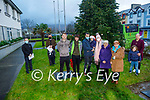 The Remembrance Tree service for those who lost loved ones to suicide, was held on Sunday at the Tralee Municipal District office online due to the Covid restrictions. L to r: Fr Sean Jones, Fr Francis Nolan, James and Joshua Roche, Paudi, Donagh and Zoe Fitzgerald, Sharon Roche, Philomena Duggan, Lesley and Ryan O'Callaghan.