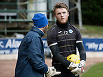 St Johnstone Training….17.03.17<br />Keeper Zander Clark pictured during training this morning at McDiarmid Park with goalkeeping coach Paul Mathers ahead of tomorrow's trip to Motherwell.<br />Picture by Graeme Hart.<br />Copyright Perthshire Picture Agency<br />Tel: 01738 623350  Mobile: 07990 594431