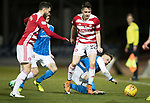 St Johnstone v Hamilton Accies…28.03.18…  McDiarmid Park    SPFL<br />Darren Lyon and George Williams battle for the ball<br />Picture by Graeme Hart. <br />Copyright Perthshire Picture Agency<br />Tel: 01738 623350  Mobile: 07990 594431