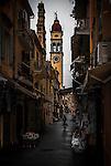 Agios Spyridon in the Old town, Corfu Greece