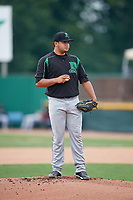 Dayton Dragons starting pitcher Adrian Rodriguez (11) gets ready to deliver a pitch during a game against the Beloit Snappers on July 22, 2018 at Pohlman Field in Beloit, Wisconsin.  Dayton defeated Beloit 2-1.  (Mike Janes/Four Seam Images)