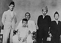 Iraq 1936 Ahmed Othman with his four sons , from left to right, Razi, Zayd, Mahmoud and Faycal  Irak 1936 Ahmed Othman avec ses 4 fils de gauche a droite, Razi, Zayd, Mahmoud and Faycal