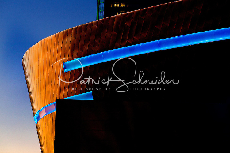 The Charlotte NC skyline, showing Duke Energy Tower and the NASCAR Hall of Fame. Photographer has extensive collection of Charlotte skyline images.