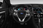 Car pictures of steering wheel view of a 2018 Ford Taurus SHO 4 Door Sedan Steering Wheel