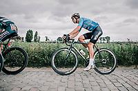 Wout Van Aert (BEL/Veranda's Willems Crelan) riding the cobbles.<br /> <br /> <br /> 2nd Elfstedenronde 2018<br /> 1 day race: Brugge - Brugge 196.3km