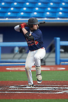 Troy McGrit (21) of P27 Academy (NC) playing for the Atlanta Braves scout team during game four of the South Atlantic Border Battle at Truist Point on September 27, 2020 in High Pont, NC. (Brian Westerholt/Four Seam Images)