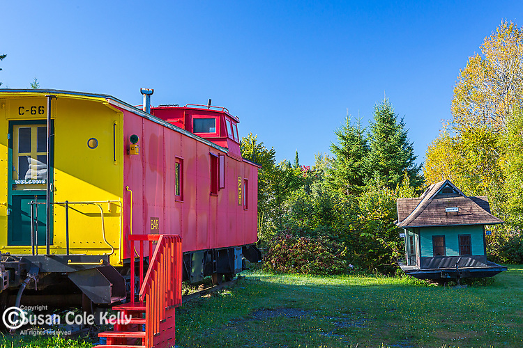 Railroad depot in Oakfield, Maine, USA