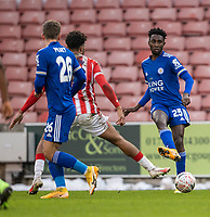 9th January 2021; Bet365 Stadium, Stoke, Staffordshire, England; English FA Cup Football, Carabao Cup, Stoke City versus Leicester City; Wilfred Ndidi of Leicester City passes the ball inside